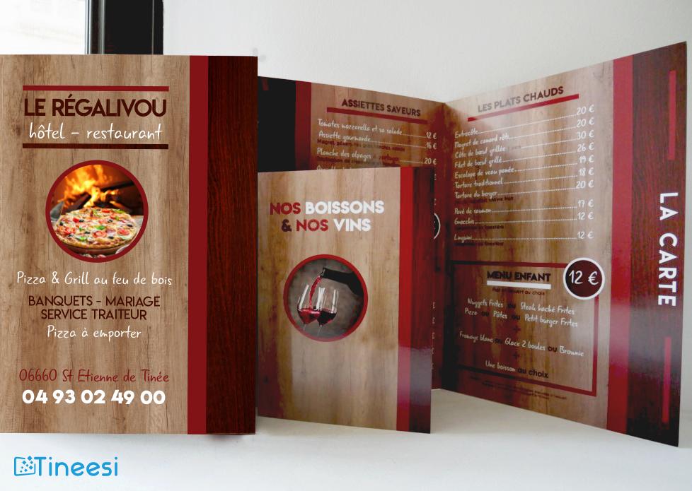 Carte et menu Le Régalivou