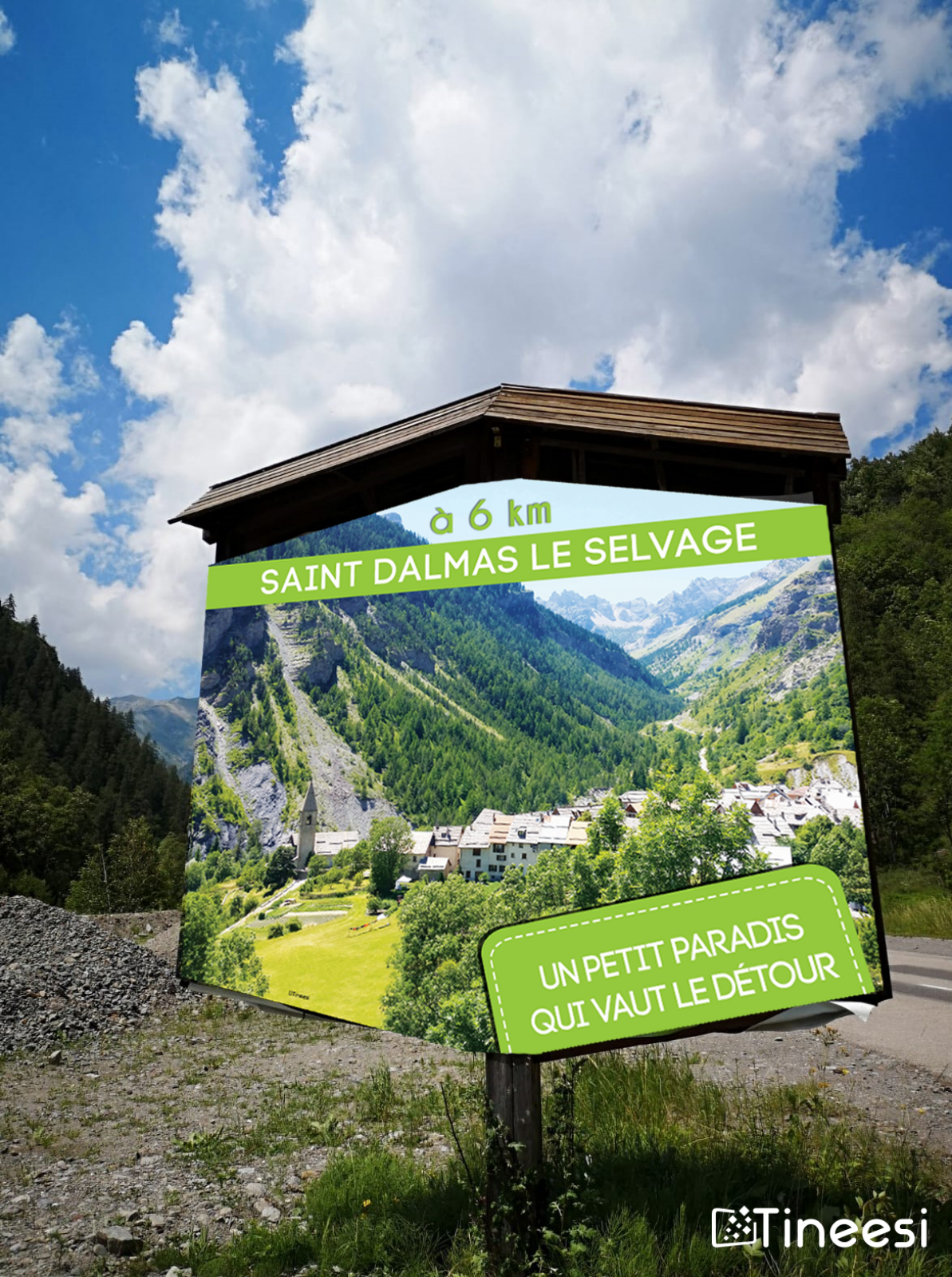 Panneau grand format Saint-Dalmas le Selvage