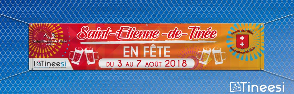 Banderole-Comité des fêtes de Saint-Etienne de Tinée