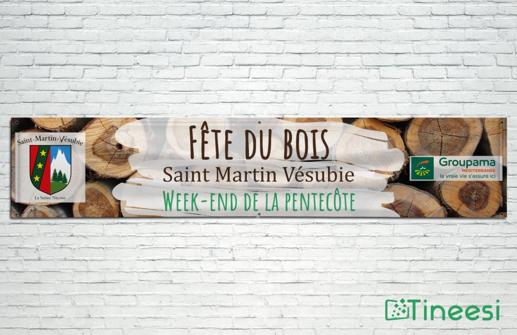 Banderole Fête du bois à Saint-Martin Vésubie