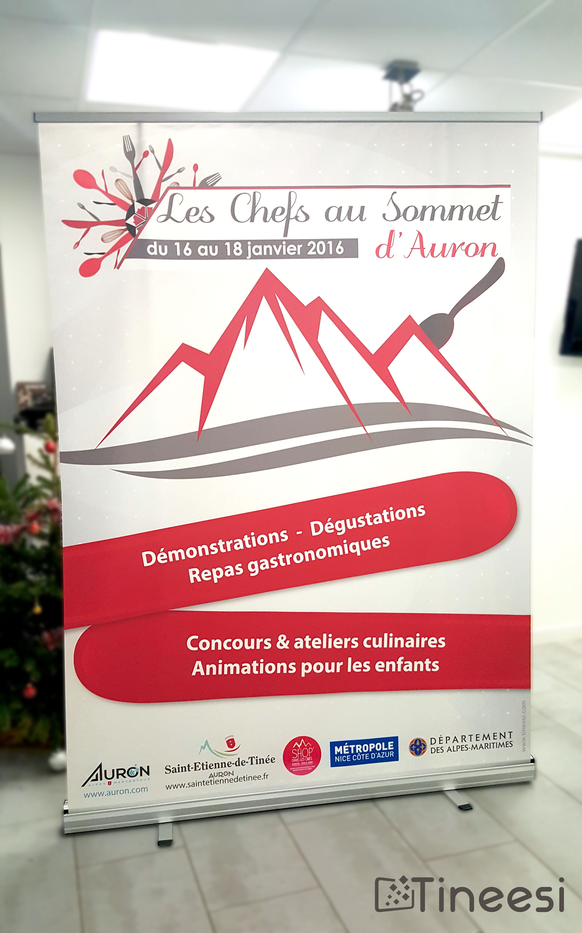 Chefs au sommet -roll up