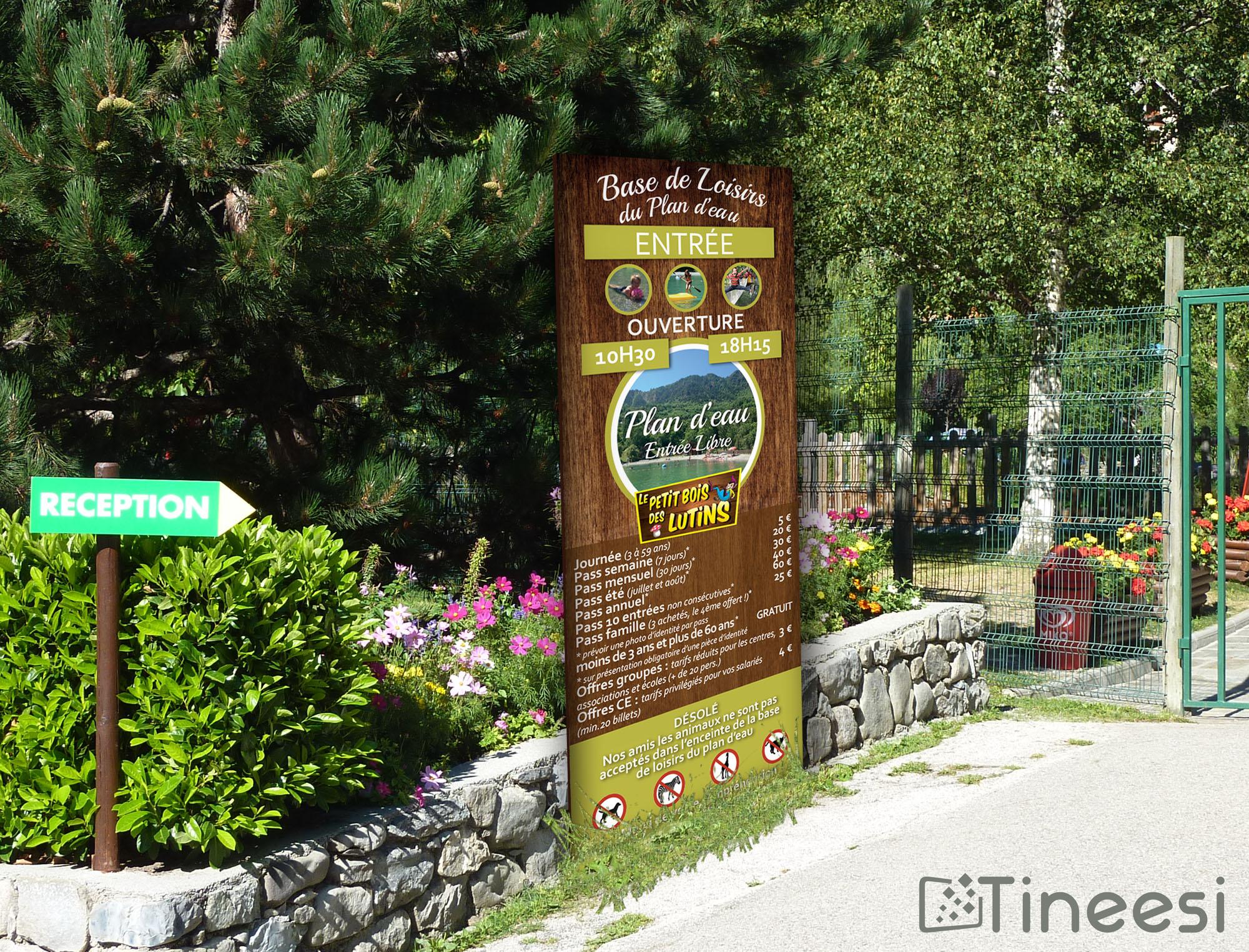 Mairie de Saint Etienne de Tinée - panneau camping