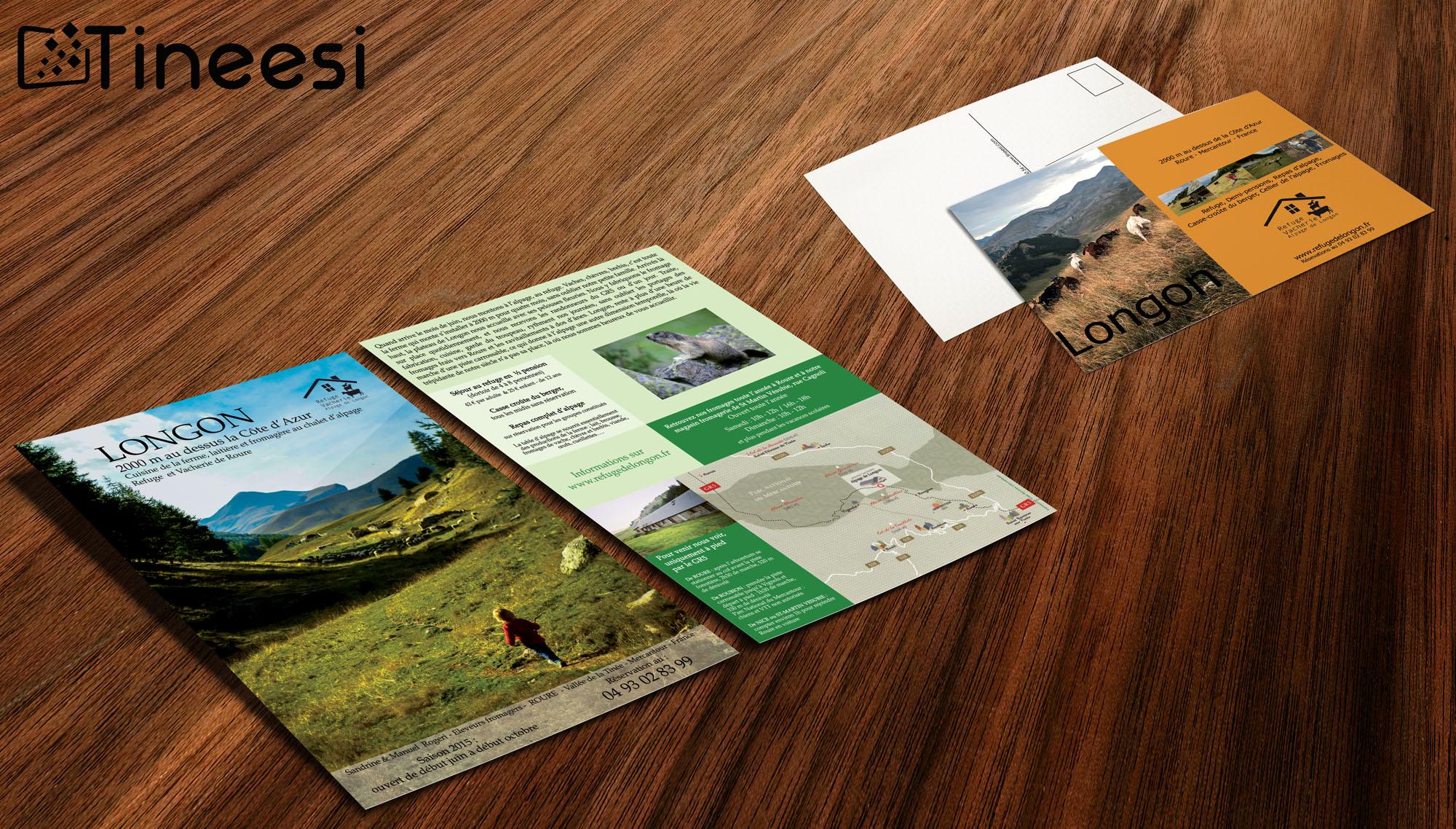 Refuge de logon - carte postale et flyers