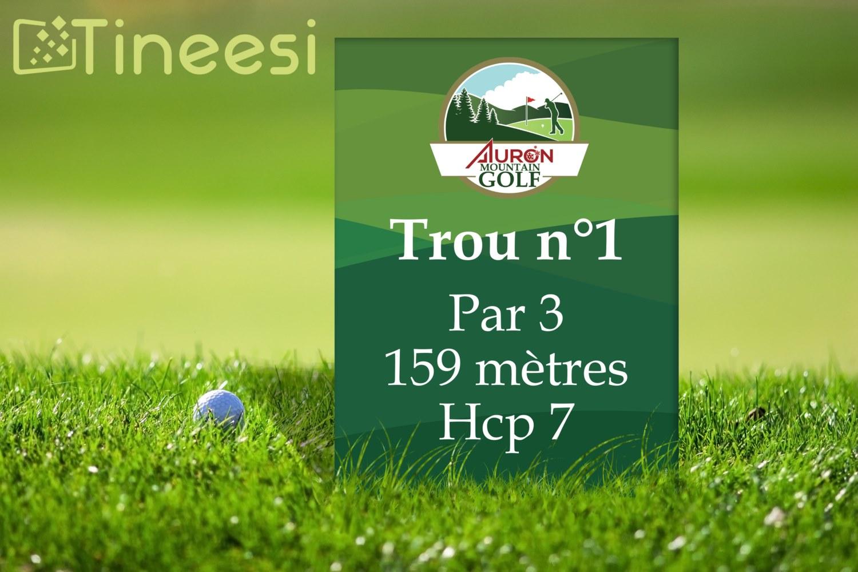 Panneau golf Auron mountain golf