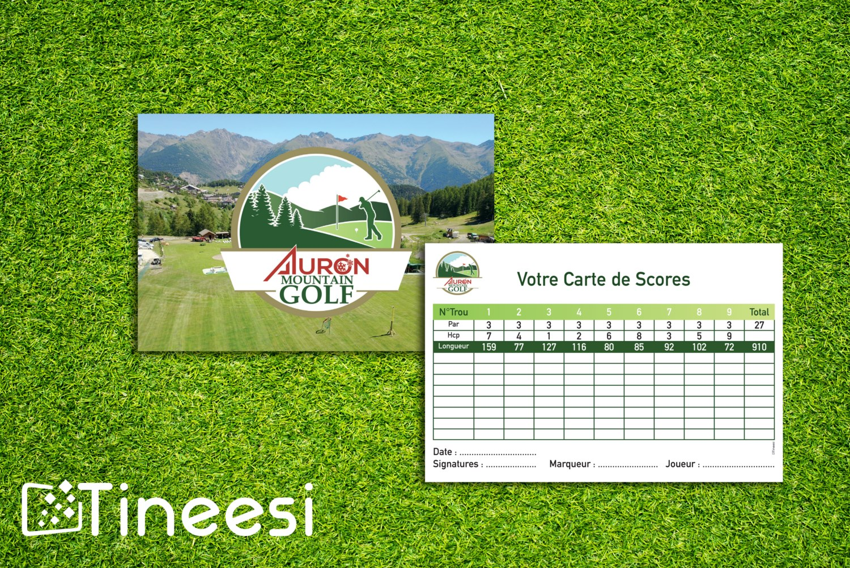carte des scores Auron Mountain Golf