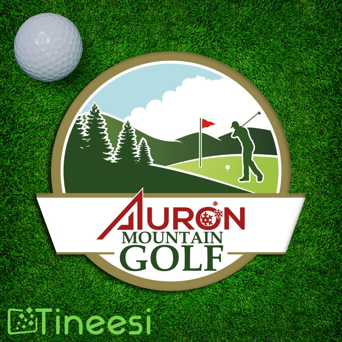 Logo Auron Mountain golf