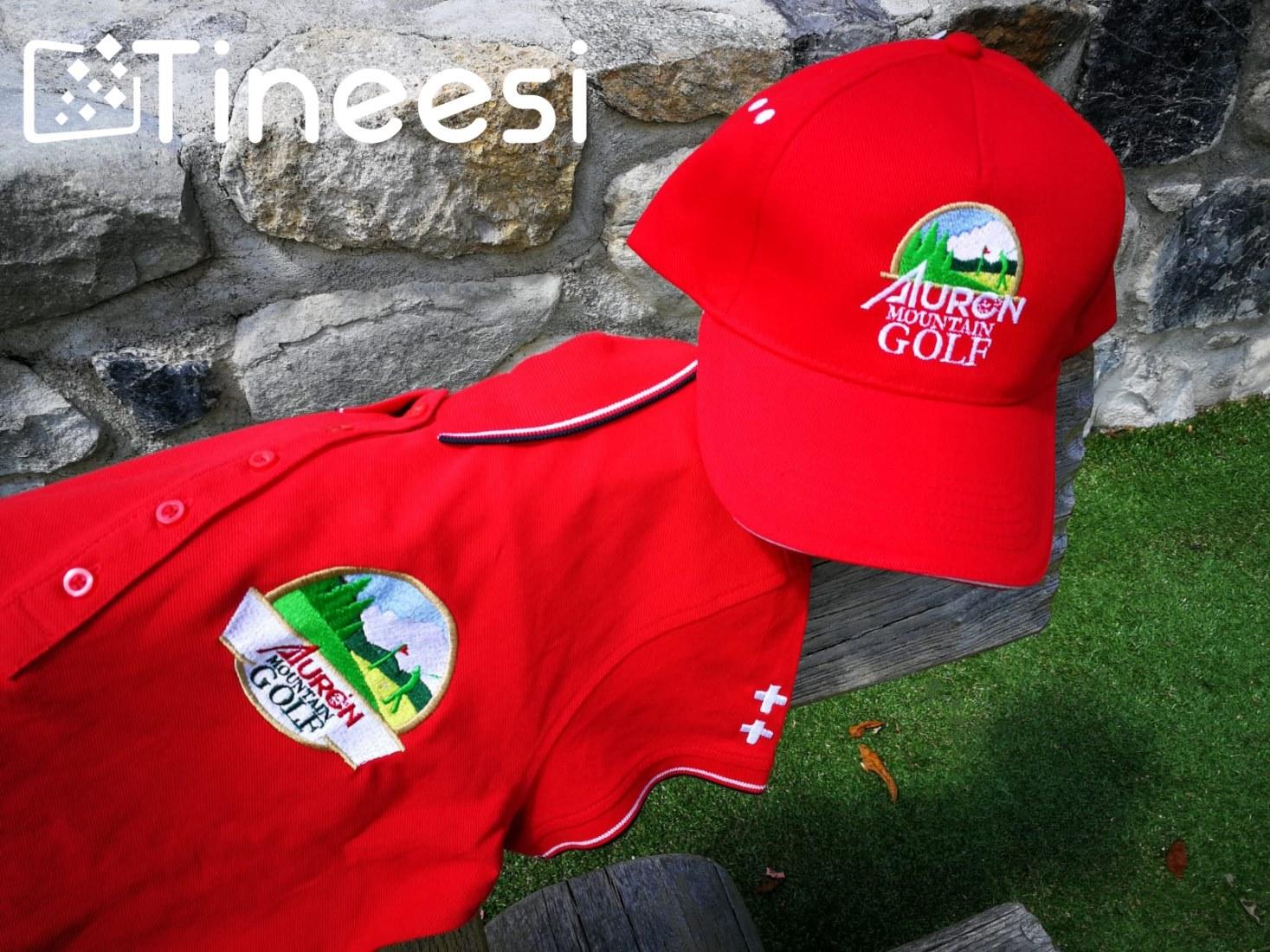 T-shirt et casquette Auron Mountain Golf