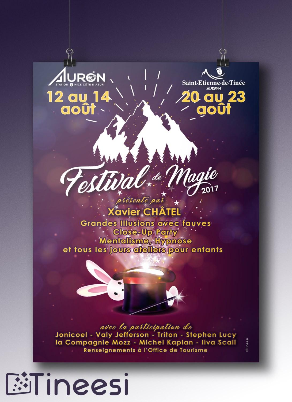 Affiche Festival de la magie Auron