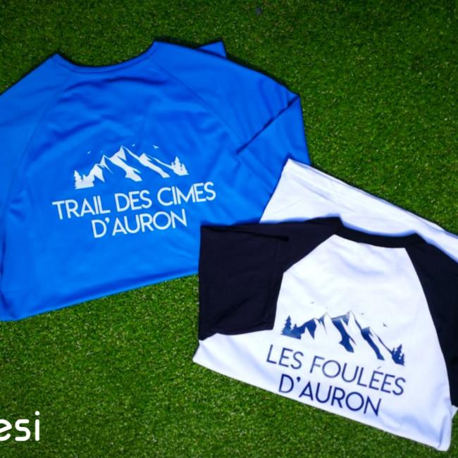 T-shirt course les foulées d'Auron et trail des cimes