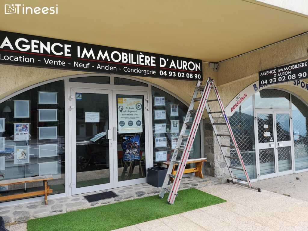 Enseigne - agence immobilier- auron