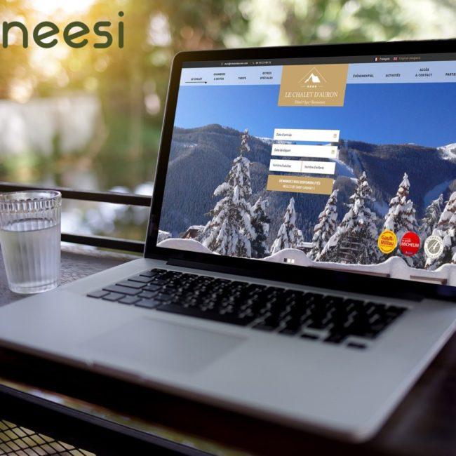 site internet Le Chalet d'Auron