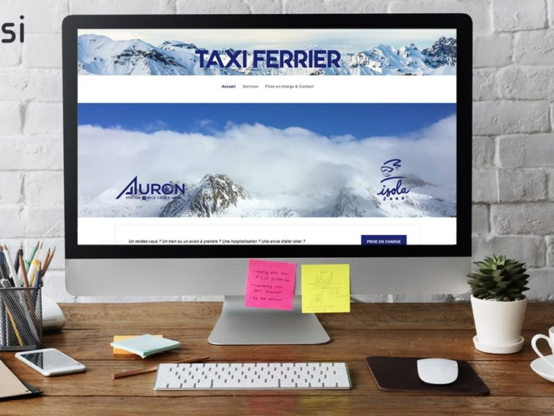 Taxi Ferrier - Site internet