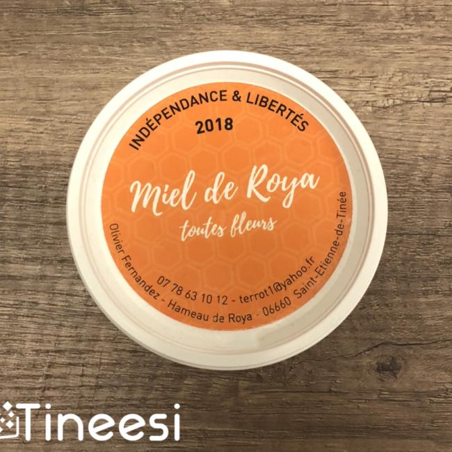 Miel de Roya - Étiquette Pot