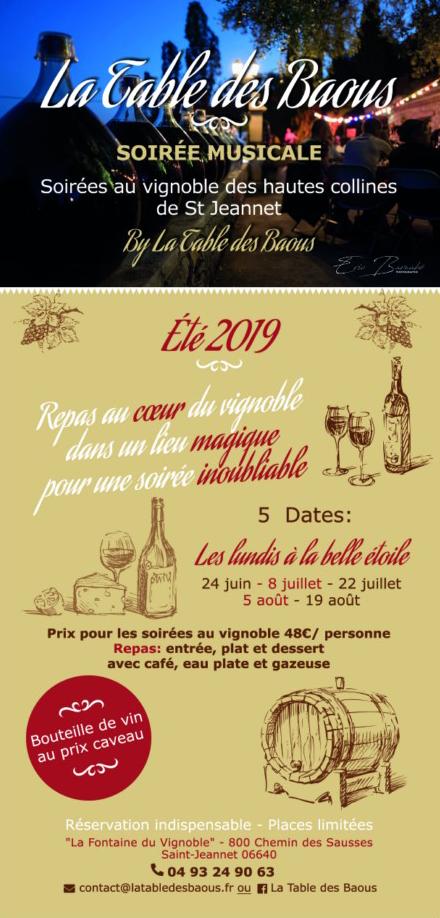 Flyer recto Table des Baous