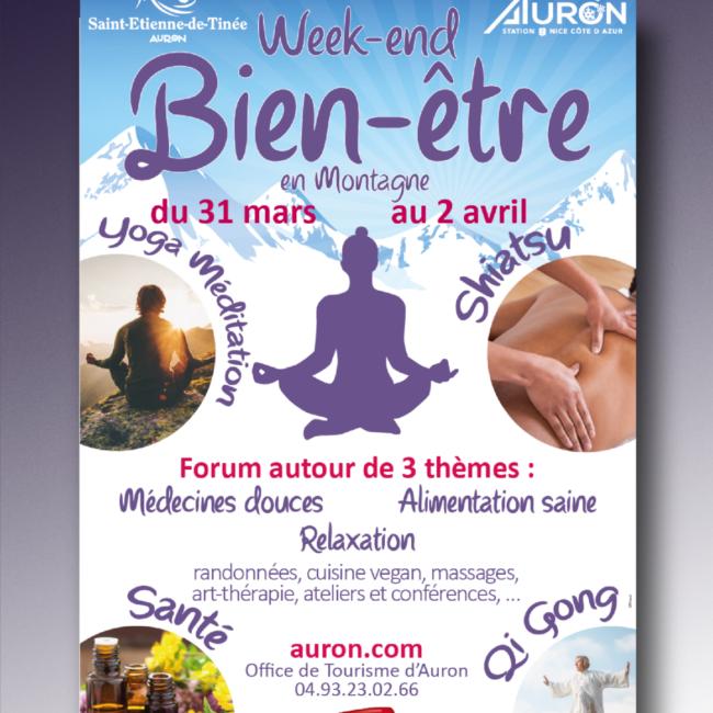 Affiche festival du bien-être Auron