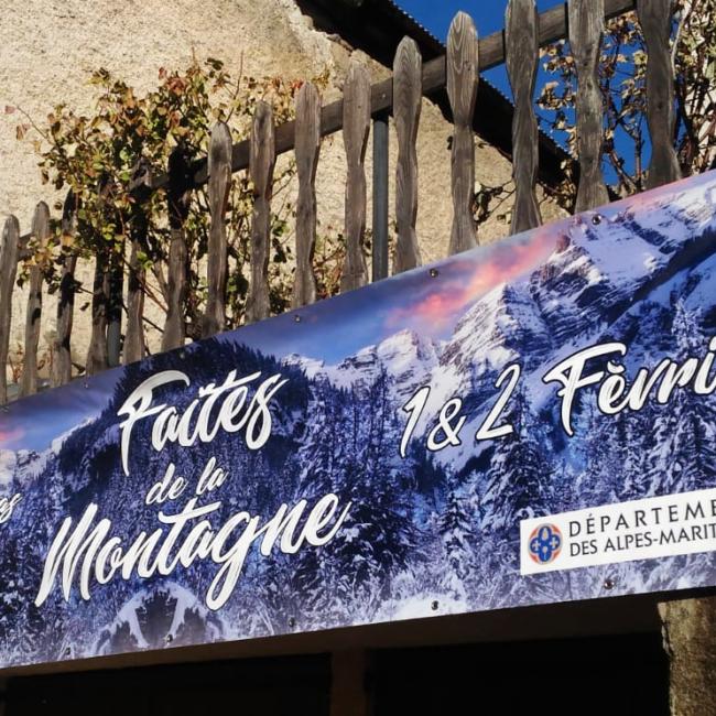 Banderole Faites de la montagne