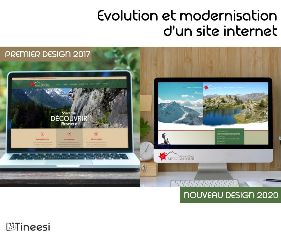 évolution site internet guides tinee mercantour